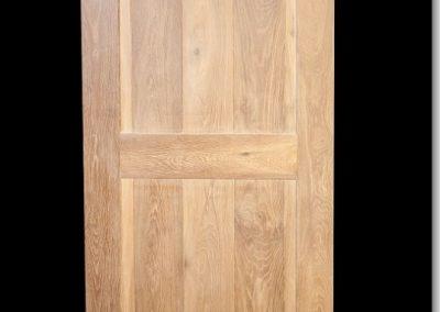 eiken binnendeur klamp deur dubbel gerookt wit